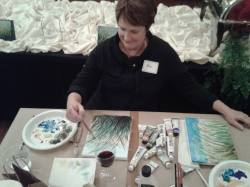 A snap shot of one painter emerging.