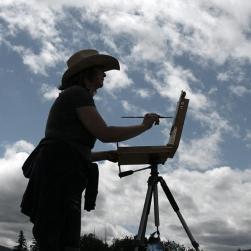 Melissa Jander en plein air