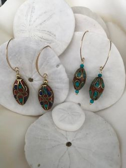 GOLD with Lapis, Coral & Turquoise