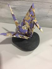 Rock+ paper= happiness crane