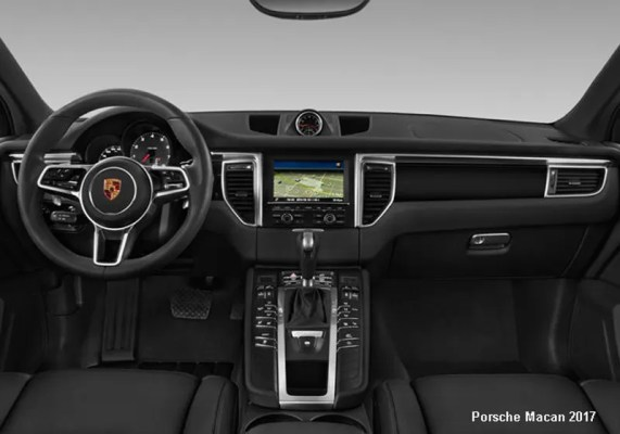 Porsche-Macan-2017-steering-and-transmission