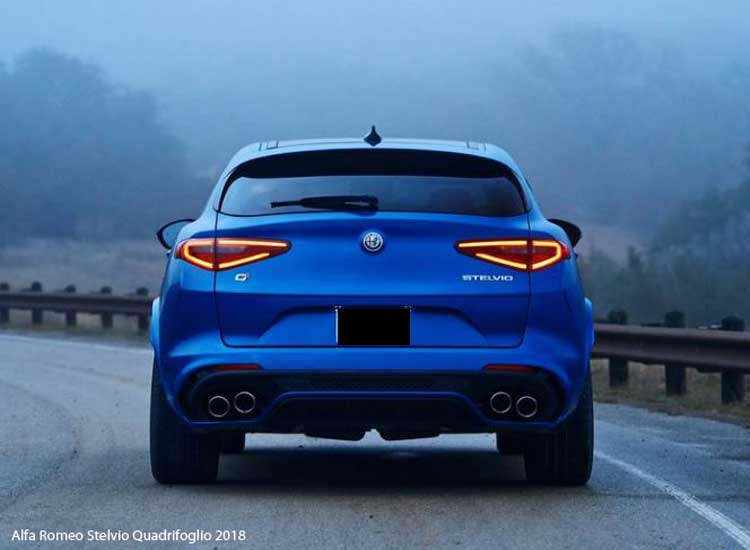 alfa romeo stelvio quadrifoglio 2018 price specifications. Black Bedroom Furniture Sets. Home Design Ideas