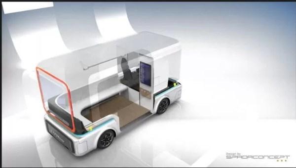 Debut of e-GO Mover, Autonomous Electric Mini Buses- expected interior