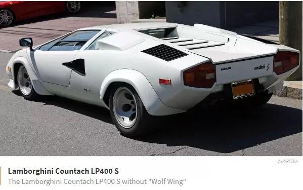 Lamborghini Countach LP400S without Wolfwing