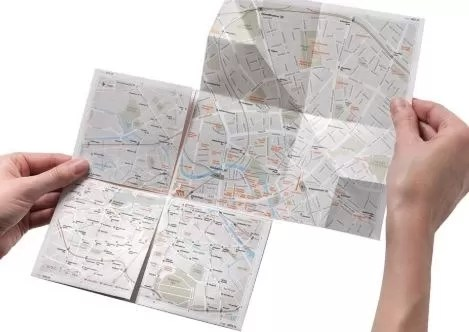 Paper Map on road trip, you cannot know where you stuck