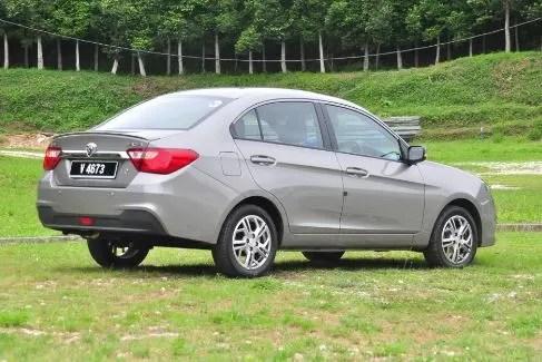 Proton Saga Side Rear View