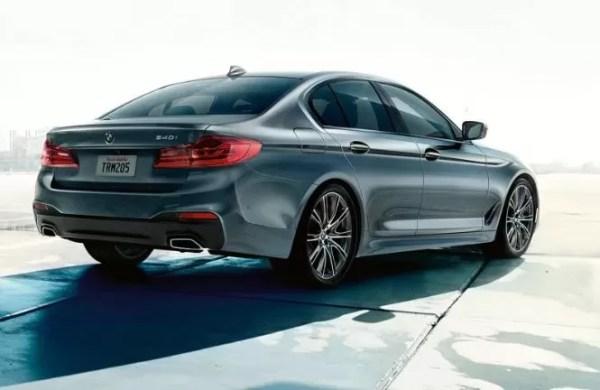 2020 BMW 5 Series rear view