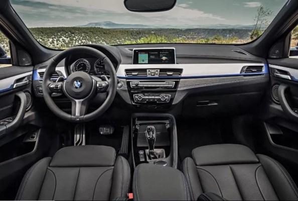 BMW 2 Series X2 SUV front interior cabin view 1