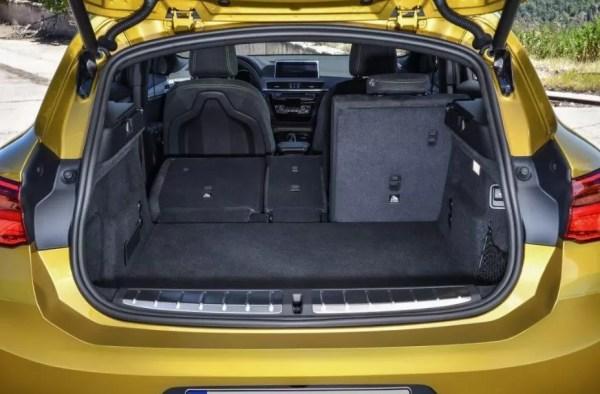 BMW 2 Series X2 SUV luggage area view 1