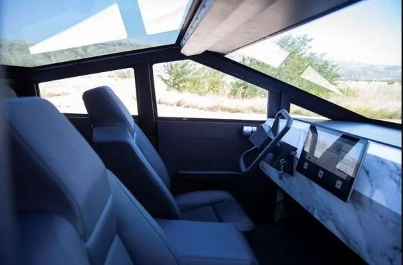 Tesla Cyber Truck Replica with Gasoline engine interior view