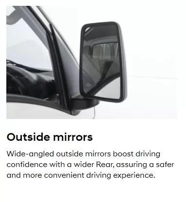 4th Generation Hyundai Porter H 100 Pickup Truck side mirrors