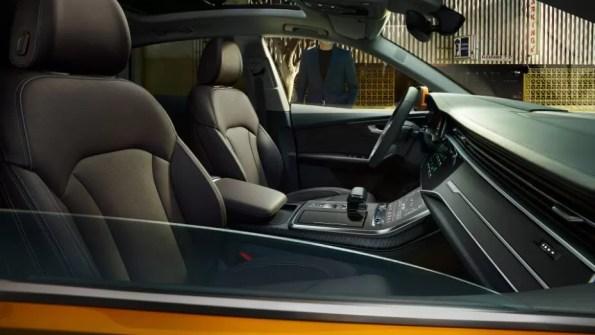 1st generation Audi Q8 SUV front cabin interior view