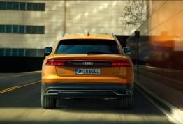 1st generation Audi Q8 SUV full rear view