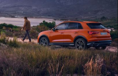 2nd generation Audi Q3 SUV beautiful view from rear