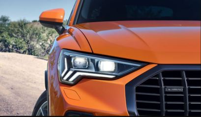 2nd generation Audi Q3 SUV headlamps close view