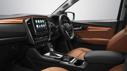 2nd generation Isuzu Mux suv infotainment screen and other controls view