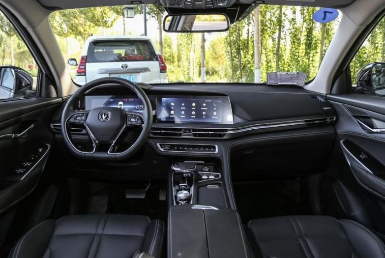 2nd generation cs75 suv front cabin interior view