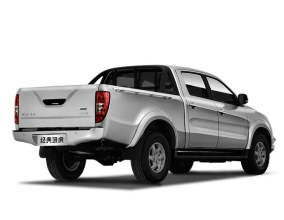 2nd generation jmc vigus 5 pickup truck side and rear view silver