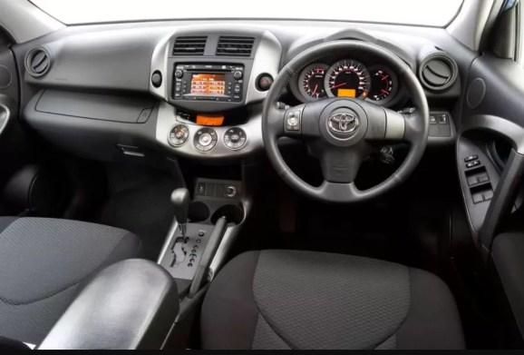 3rd generation Toyota Rav4 SUV beautiful interior cabin view