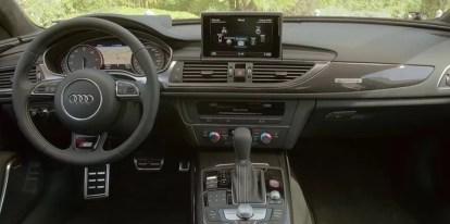 4th generation Audi A6 S6 sedan front interior cabin view
