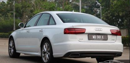 4th generation audi a6 s6 saloon white side rear view