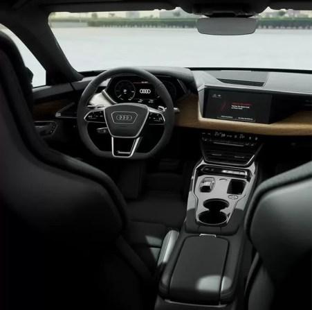 1st generation Audi E tron GT All Electric Sedan premium front cabin interior view