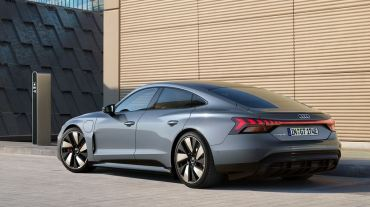 1st generation Audi E tron GT All Electric Sedan side and rear view