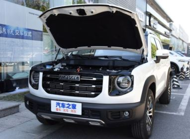 1st generation Haval Big Dog SUV front view with bonnet open