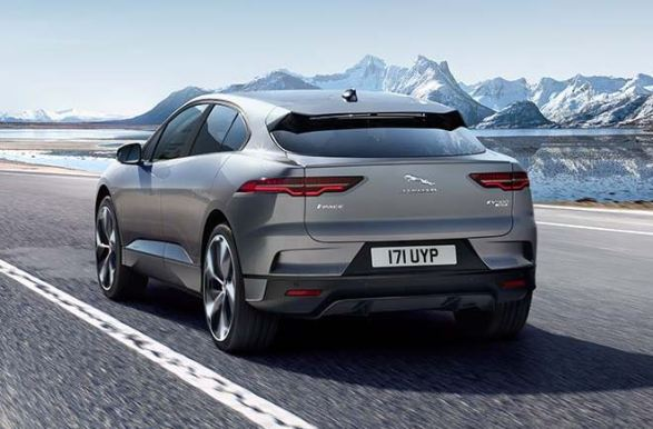 1st generation Jaguar i pace all Electric SUV full rear view