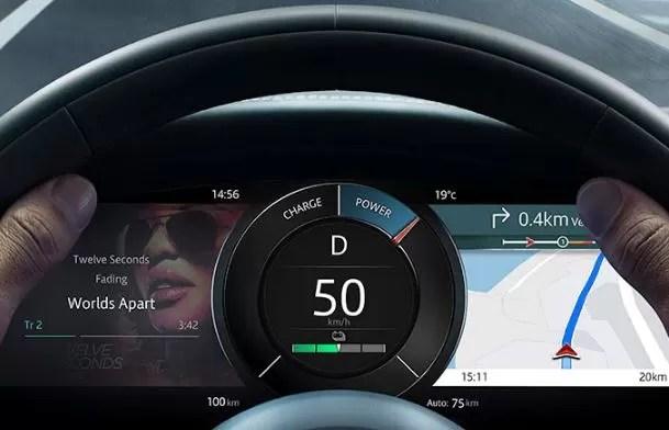 1st generation Jaguar i pace all Electric SUV instrument cluster