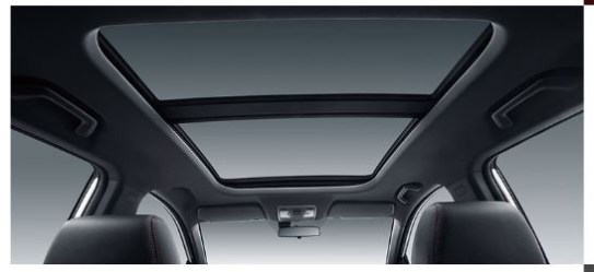 1st generation DFSK Glory 500 suv ultra vide panoramic sunroof view