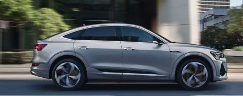 1st generation audi e tron sportback fully electric full side view