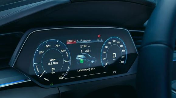1st generation audi e tron sportback fully electric instrument cluster