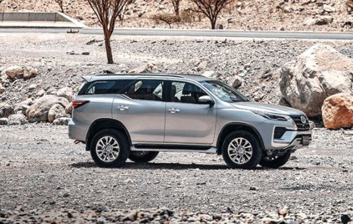 2nd generation facelifted toyota fortuner suv full side view
