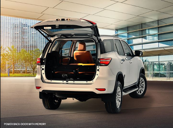 2nd generation facelifted toyota fortuner suv luggage space view