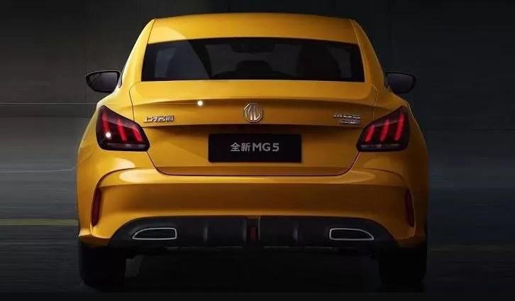 2nd generation MG 5 Sedan rear view