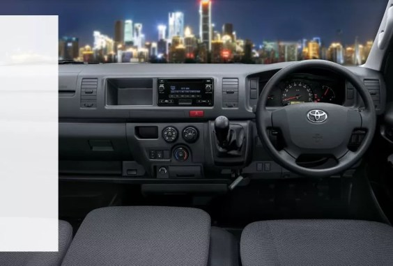 6th generation Toyota hiace van front cabin interior features