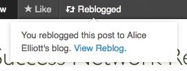 Reblog successful in WordPress.com
