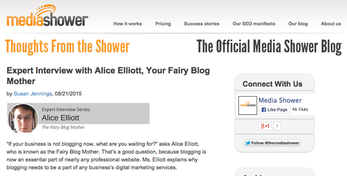 Fairy Blog Mother thoughts from the shower