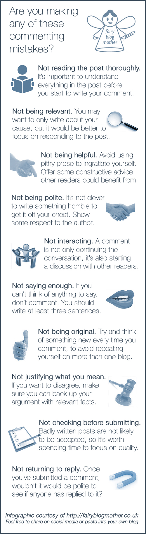 Are you guilty of making any of these commenting mistakes?