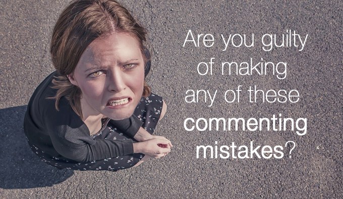 commenting mistakes