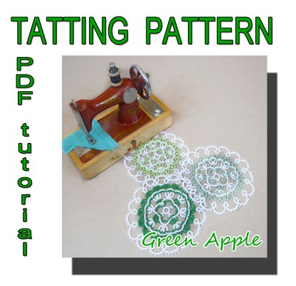 Doily Green Apple pattern