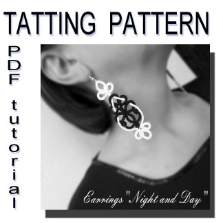 Earrings Night and Day pattern