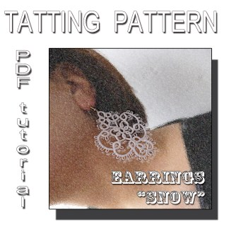 Earrings Snow tatting pattern