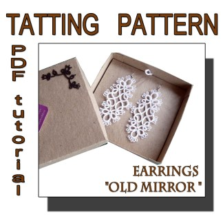 Earrings Old Mirror pattern