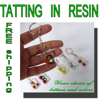 Personalized keychain Rose garden