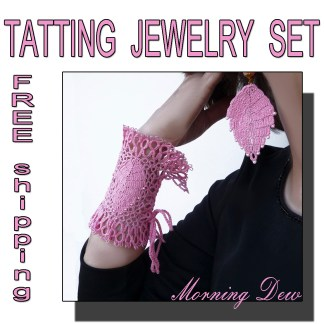 Pink jewelry set Morning Dew