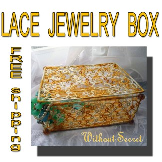 Tatting jewelry box