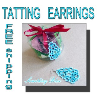 Lace earrings Something Blue