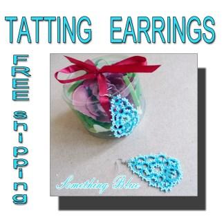 Lace earrings Something Blue